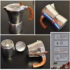 CAFFETTIERA MOKA CAFFè ESPRESSO 2 TAZZE FINESTRATA