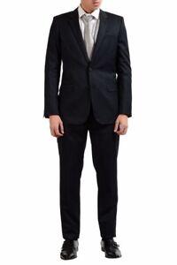 Saint Laurent Men's Charcoal Wool Silk Two Button Suit US 40 IT 50
