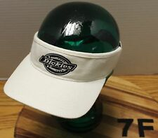 DICKIES WHITE VISOR SIZE MEDIUM/LARGE IN VERY GOOD CONDITION