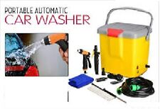 PORTABLE AUTOMATIC 12V CAR WASHER WITH POWER GUN & BRUSH FOR POWERFUL PRESSURE