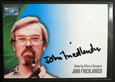 DOCTOR WHO - John Friedlander Autograph Card - Strictly Ink 2002