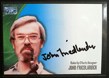 DOCTOR WHO, JOHN FRIEDLANDER, Make-Up Effects, AUTOGRAPH Card, Strictly Ink 2002