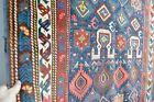 BEAUTIFUL ANTIQUE CAUCASIAN SHIRVAN RUG MUSIC FOR THE EYES COLORS  kazak karabag