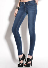 Flying Monkey Jeans Blue Wash White Stitch Jegging JL58 27 28 or 29 in NWT