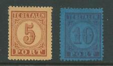 1870TG Nederland Portzegel  P1-P2 postfris mooie zegels zie foto's.