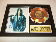 ALICE COOPER    SIGNED  GOLD CD  DISC 91