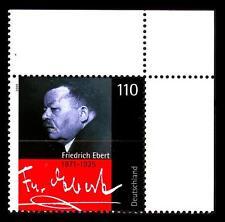 2101 ** - Friedrich Ebert - Eckrand oben rechts - postfrisch