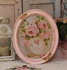 """Vase with Roses"" ~ Vintage~Shabby Chic~Country Cottage style~Wall Decor Sign"