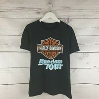 Black Harley Davidson Motorcycles Freedom Tour TShirt Motorsport Size Small