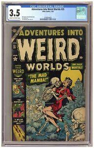 Adventures into Weird Worlds 25 (CGC 3.5) Everett; Maneely; Atlas; 1954 A620