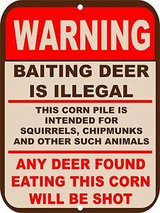"Retro Vintage Nostalgic Funny Deer Baiting Man Hunting Metal Sign 9""x12"""