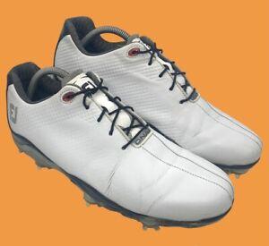 FootJoy Men's DNA Waterproof Golf Shoes 53493 Sz 9.5 M Black White MSRP $200