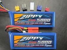 2 ZIPPY 5000mAh 3S 11.1V 20C LIPO TRAXXAS E-REVO SLASH 4X4 VXL SAVAGE FLUX HPI
