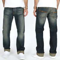 Nudie Herren Regular Straight Fit Bio Denim Jeans Hose | Average Joe Sharp Used
