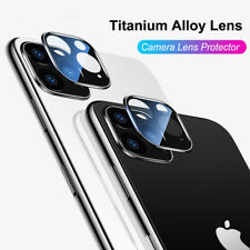 For iPhone 11 Pro Max XR XS Metal Back Camera Lens Protector Tempered Glass Film