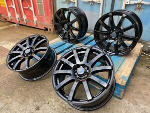 "17"" Ford FIesta 4x108 3Sixty Force 10 Gloss Black Alloy Wheels Focus StreetKa"