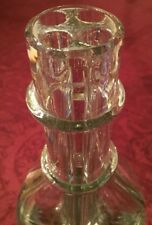 """Vintage MADE IN FRANCE Tall Glass Flower """"Four Compartment""""Vase"""
