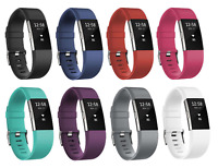 Replacement Silicone Wristband Bracelet Strap with Buckle for Fitbit Charge 2