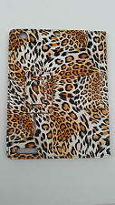 PU Portfolio Orange White Stand Case For iPad 2 3 4 Leopard Print Spot Bi Fold
