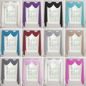 Plain Voile Net Curtain Scarf - 3m & 5m - Huge Range Of Colours - Free Postage