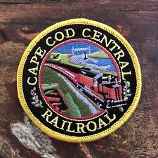 Genuine Vintage CAPE COD CENTRAL RAILROAD Embroidered Cloth Patch UNUSED