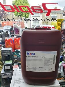 Mobil Super 3000 X1 5W-40 5W40 Drum Engine Motor Oil 20 Litres 20L