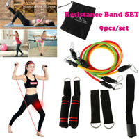 5PCS//Set Resistance Loop Bands Strength Fitness Gym Exercise Yoga Workout Sports