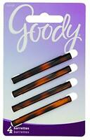 Goody Classics Stay Tight Hair Barrette Mock Tort STRONG hair pin 4 Count