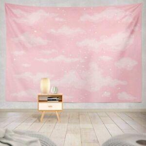 Pink Sky Tapestry Cute Heaven Pink Sky Cloud Air Backdrop Beautiful Wall Hanging