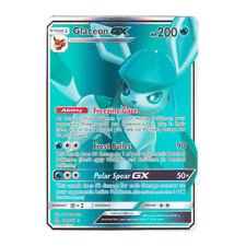 Glaceon GX FULL ART Holo Sun & Moon Ultra Prism 141/156 (Proxy   Flash Card)