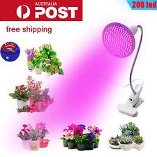 200LED Grow Light Hydroponic Garden Plant Desk 360° Flexible Clip Lamp AU Plug