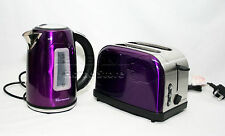 Purple Modern Style 1.7L Cordless Electric Kettle & Two Bread Slice Toaster Set