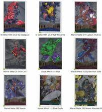 1995 Fleer Marvel Metal SILVER FLASHER Card Singles PICK / Choose #1-138 NM