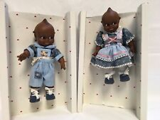 Vintage Jesco Kewpie Cameo Pair of African American Children Euc