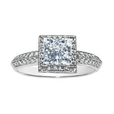 Tgw Princess-cut Diamonette Engagement Ring 14k White Gold 1 1/4ct