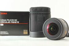 【Unused】SIGMA 4.5mm F/2.8 EX DC HSM Circular Fisheye For NIKON by FedEx From JP