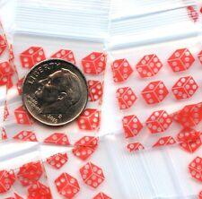100 Baggies Lucky Red Dice 1 x 1 inch mini ziplock bags Apple 1010 minizips