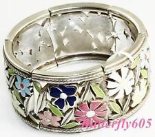 Brighton PAINTED GARDEN STRETCH Bracelet NWT $80