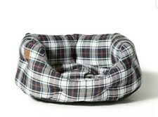 Danish Design Lumberjack Check White/Navy Deluxe Slumber Bed Washable Dog Sofa