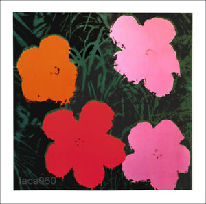 Andy WARHOL Flowers I Offset Lithograph Art Print 23-1/2 x 23-1/2