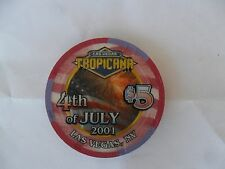 New listing $5 Tropicana 2001 4Th Of July Chip
