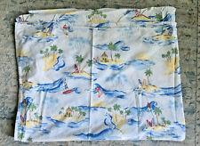 Pottery Barn Kids Island Surf Twin Bed Flat Sheet
