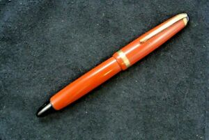 Montblanc 216 button filler in red
