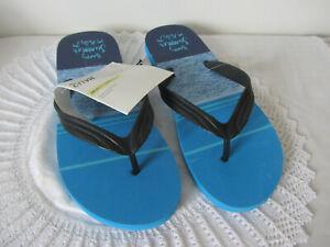 Mens Crivit Flip Flops/Sandles Blue Happy Summer Party Size 8/9 New