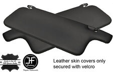 BLACK STITCH 2X SUN VISORS REAL LEATHER COVERS FITS MAZDA RX7 FC 1986-1991