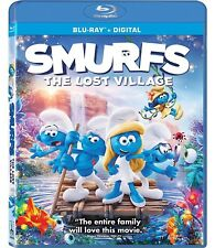 Smurfs The Lost Village (Blu-ray Disc, 2017, Includes Digital) free shipping