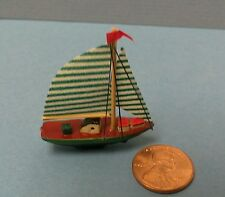 Dollhouse Miniature Model Sail Boat - racing sloop/ for shelf mantle 1:12 scale