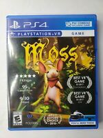 Moss VR PS4 (PlayStation 4, 2018) PSVR - ADULT OWNED - SUPER CLEAN - Many Awards