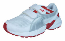 Scarpe bianco medio con chiusura a strappo per bambini dai 2 ai 16 anni
