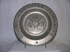 Vintage Royal Canadian Jamboree Pewter Plate Wilton-Columbia 1973
